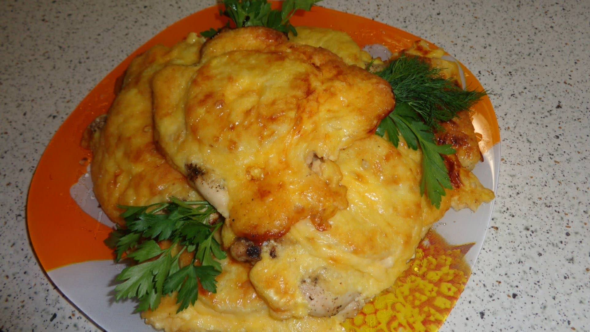 Курица в духовке с сыром и ананасами рецепт пошагово