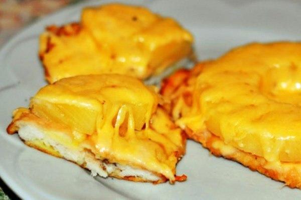 9. Филе куриное с ананасом